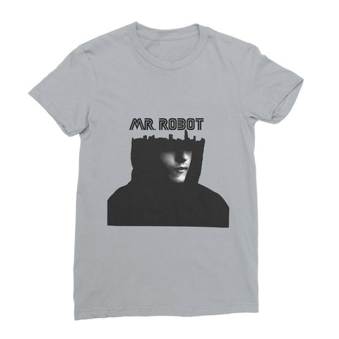 kite.ly Apparel S / Heather Grey Mr Robot Women's Fine Jersey T-Shirt