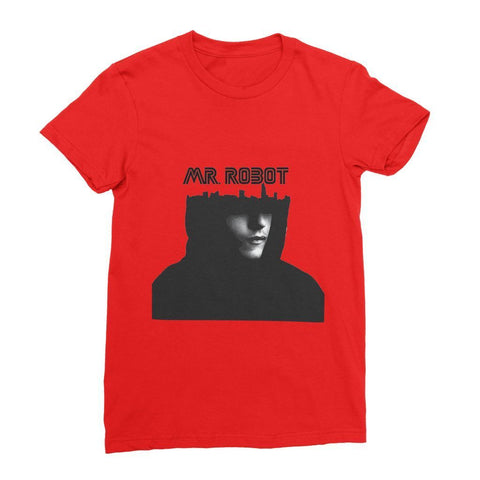kite.ly Apparel S / Red Mr Robot Women's Fine Jersey T-Shirt