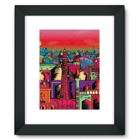"kite.ly Wall Decor 12""x16"" / Black Lahore on Drugs Framed Fine Art Print"