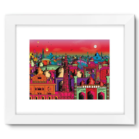 "kite.ly Wall Decor 16""x12"" / White Lahore on Drugs Framed Fine Art Print"