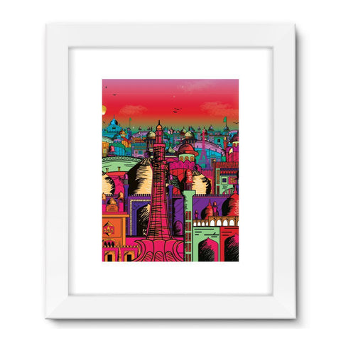 "kite.ly Wall Decor 24""x32"" / White Lahore on Drugs Framed Fine Art Print"