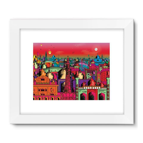 "kite.ly Wall Decor 32""x24"" / White Lahore on Drugs Framed Fine Art Print"