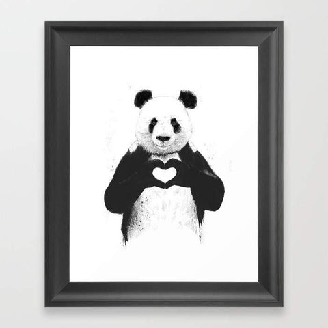 LUVD Framed Art Prints All you need is love Frame