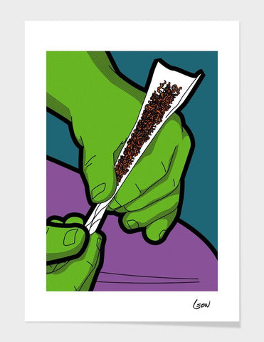 LUVD Framed Art Prints Angry Painkiller Frame