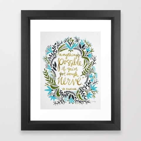 LUVD Framed Art Prints Anything's Possible Frame