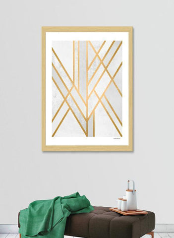 LUVD Framed Art Prints Art Deco Geometry  Frame