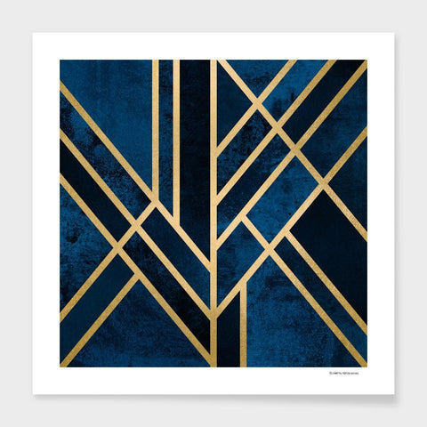 LUVD Framed Art Prints Art Deco Midnight Frame