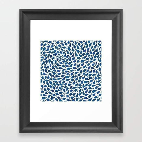 LUVD Framed Art Prints Blue Whales Frame