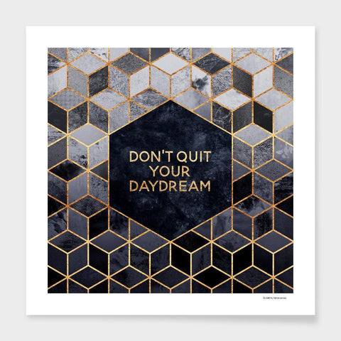LUVD Framed Art Prints Don't quit your daydream   Frame