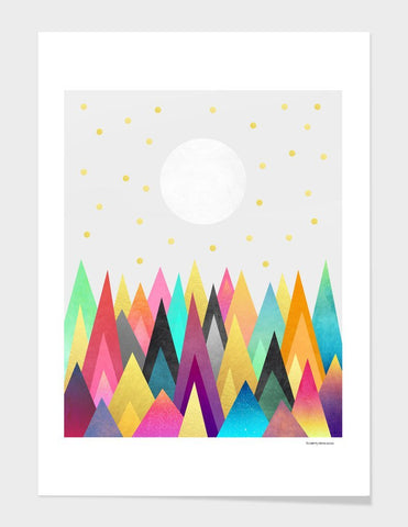 LUVD Framed Art Prints Dreamy Peaks 2  Frame