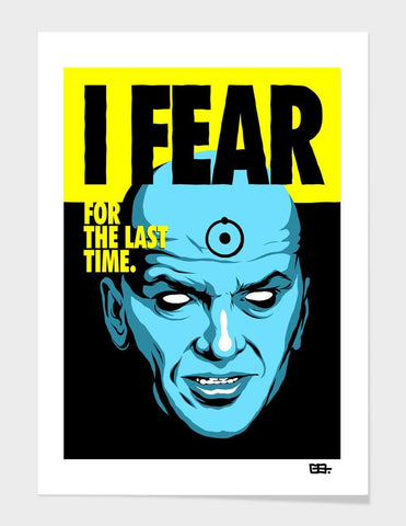 LUVD Framed Art Prints Fear Frame