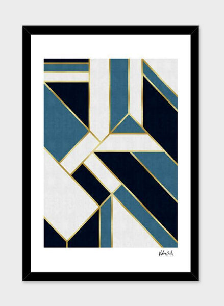 LUVD Framed Art Prints Geometric and golden art V  Frame
