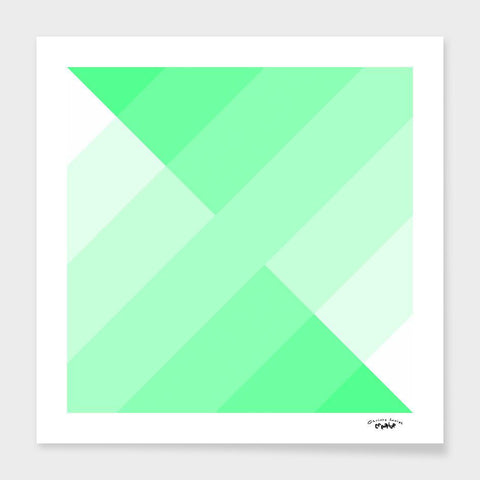 LUVD Framed Art Prints green gradient  Frame