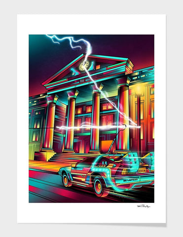 LUVD Framed Art Prints Hill Valley  Frame