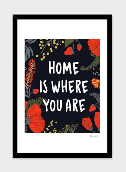 LUVD Framed Art Prints Home is where you are  Frame