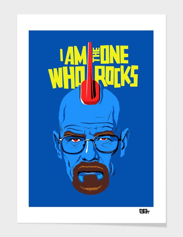 LUVD Framed Art Prints I Am The One Who Rocks Frame