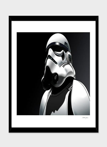 LUVD Framed Art Prints Imperial Stormtrooper   Frame