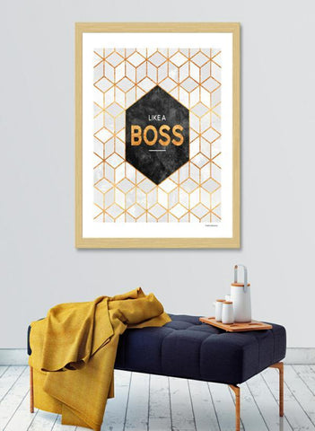 LUVD Framed Art Prints Like a boss Frame
