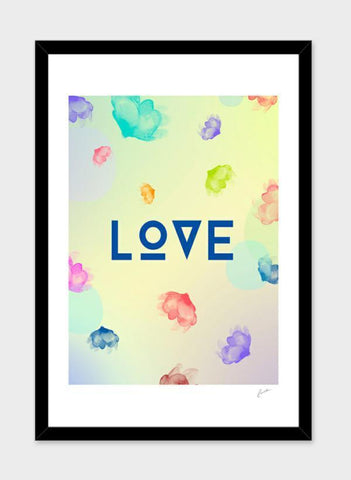 LUVD Framed Art Prints Lov3   Frame