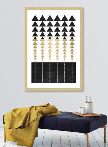 LUVD Framed Art Prints Minimal Triangles   Frame