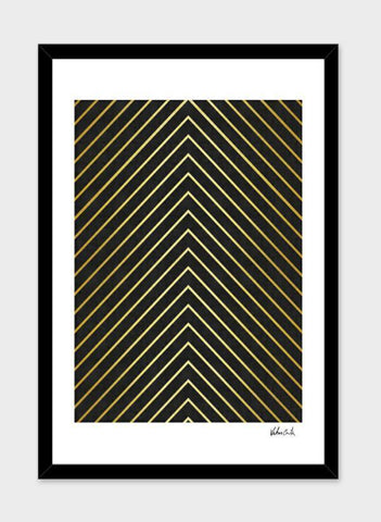 LUVD Framed Art Prints Minimalist and golden art   Frame