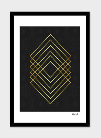 LUVD Framed Art Prints Minimalist and golden art I  Frame