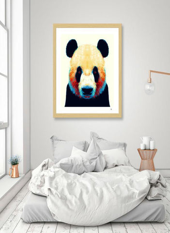 LUVD Framed Art Prints Panda - Colorful Animals  Frame