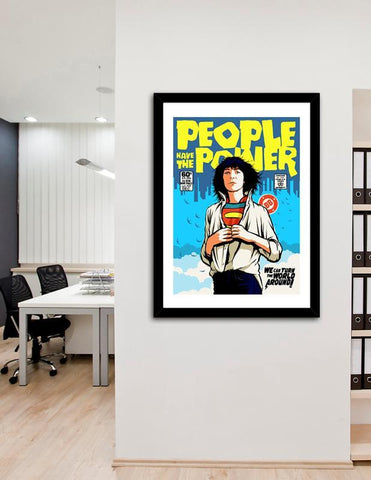 LUVD Framed Art Prints People Have The Power Frame