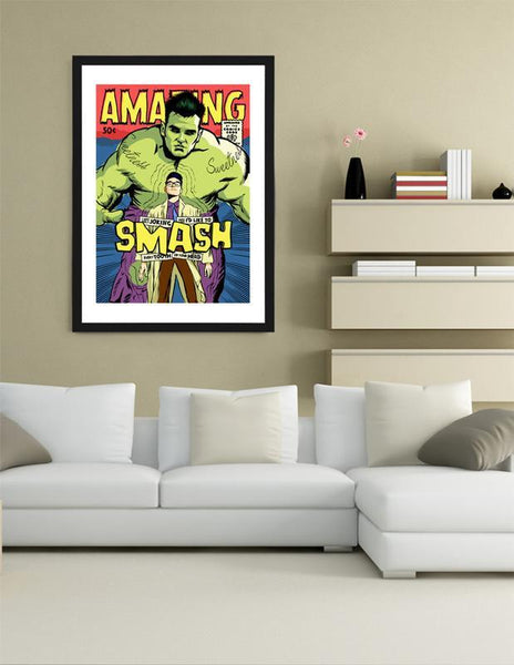 LUVD Framed Art Prints Post Punk Smash Frame