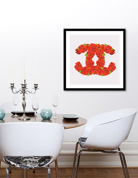 LUVD Framed Art Prints Red Roses Frame