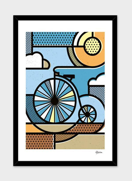 LUVD Framed Art Prints Riding through clouds  Frame