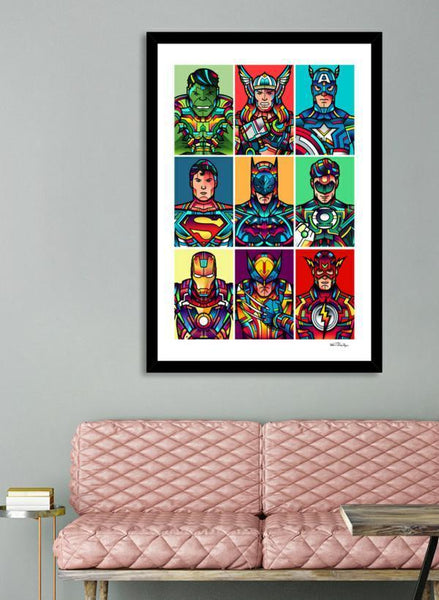 LUVD Framed Art Prints Super Pop Frame