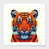 LUVD Framed Art Prints Tiger - Colorful Animals  Frame