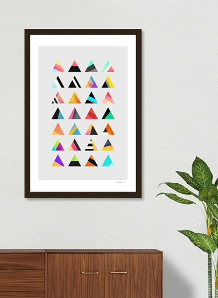 LUVD Framed Art Prints Trangle Variation   Frame