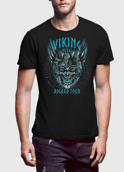 M Nidal Khan T-SHIRT Asgard Viking Black T-shirt