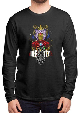 M Nidal Khan T-shirt Infinity Full Sleeves Black T-shirt