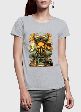 M Nidal Khan T-shirt MadMax Half Sleeves Women T-shirt