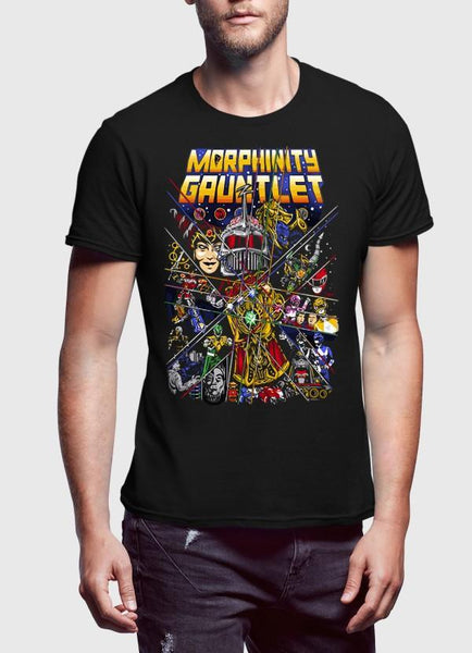 M Nidal Khan T-Shirt Morphinity Gauntlet Black Half Sleeves T-Shirt