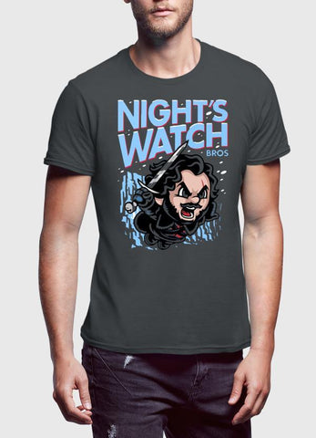 M Nidal Khan T-SHIRT Nights Watch Charcoal T-shirt