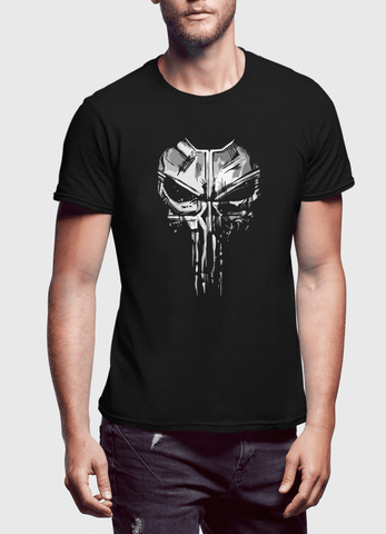 M Nidal Khan T-shirt Skull Half Sleeves Black T-shirt