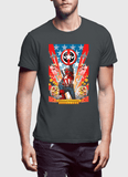 M Nidal Khan T-Shirt Small / Charcoal Dead Cap Gray T-Shirt