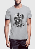 M Nidal Khan T-Shirt Small / Gray Batman Black T-shirt