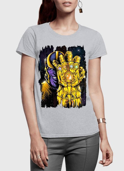 M Nidal Khan T-shirt SMALL / Gray Thanos 2 Half Sleeves Women T-shirt