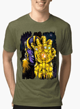M Nidal Khan T-shirt SMALL / Green Thanos 2 Half Sleeves Melange T-shirt