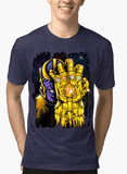 M Nidal Khan T-shirt SMALL / Navy Thanos 2 Half Sleeves Melange T-shirt