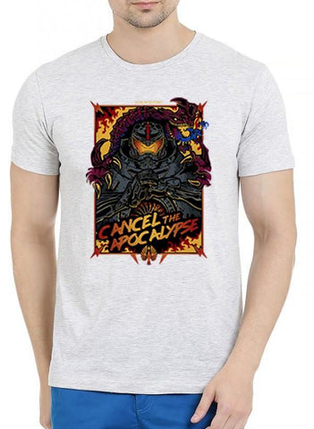M Nidal Khan T-shirt SMALL / Offwhite Cancel the Apocalypse Half Sleeves Melange T-shirt