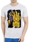 M Nidal Khan T-shirt SMALL / Offwhite Thanos 2 Half Sleeves Melange T-shirt
