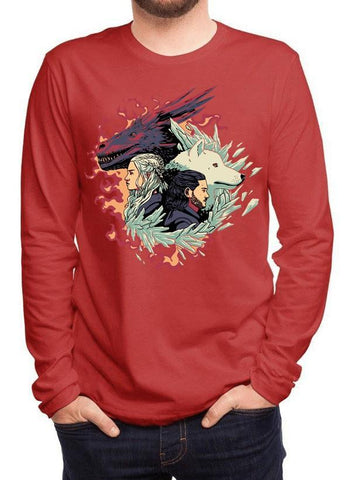 M Nidal Khan T-shirt SMALL / Red Fire and Ice GOT Full Sleeves T-shirt