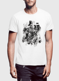 M Nidal Khan T-Shirt Small / White Batman Black T-shirt