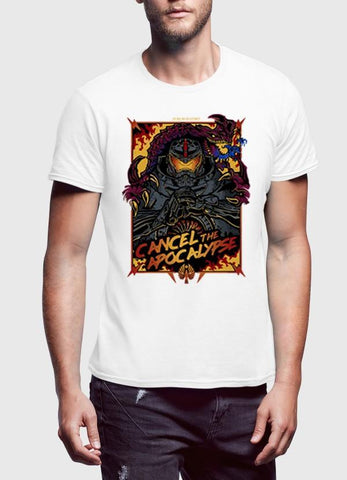M Nidal Khan T-shirt SMALL / White Cancel the Apocalypse Half Sleeves T-shirt
